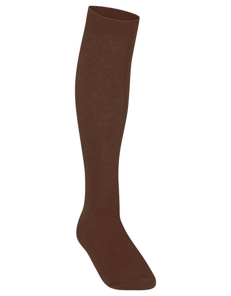 Girls Knee High Socks Brown
