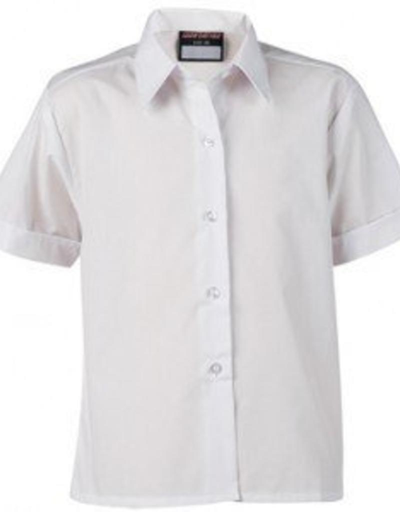 Girls Short Sleeve Shirt Twin Pack White