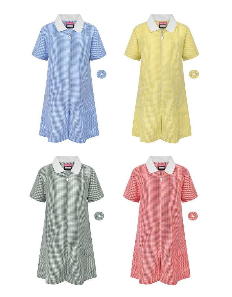 A Line Gingham Summer Dress