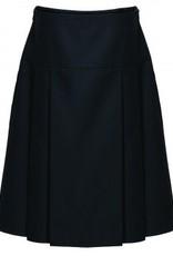 Drop Waist Pleat Skirt Black