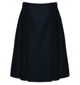 Drop Waist Pleat Skirt Black