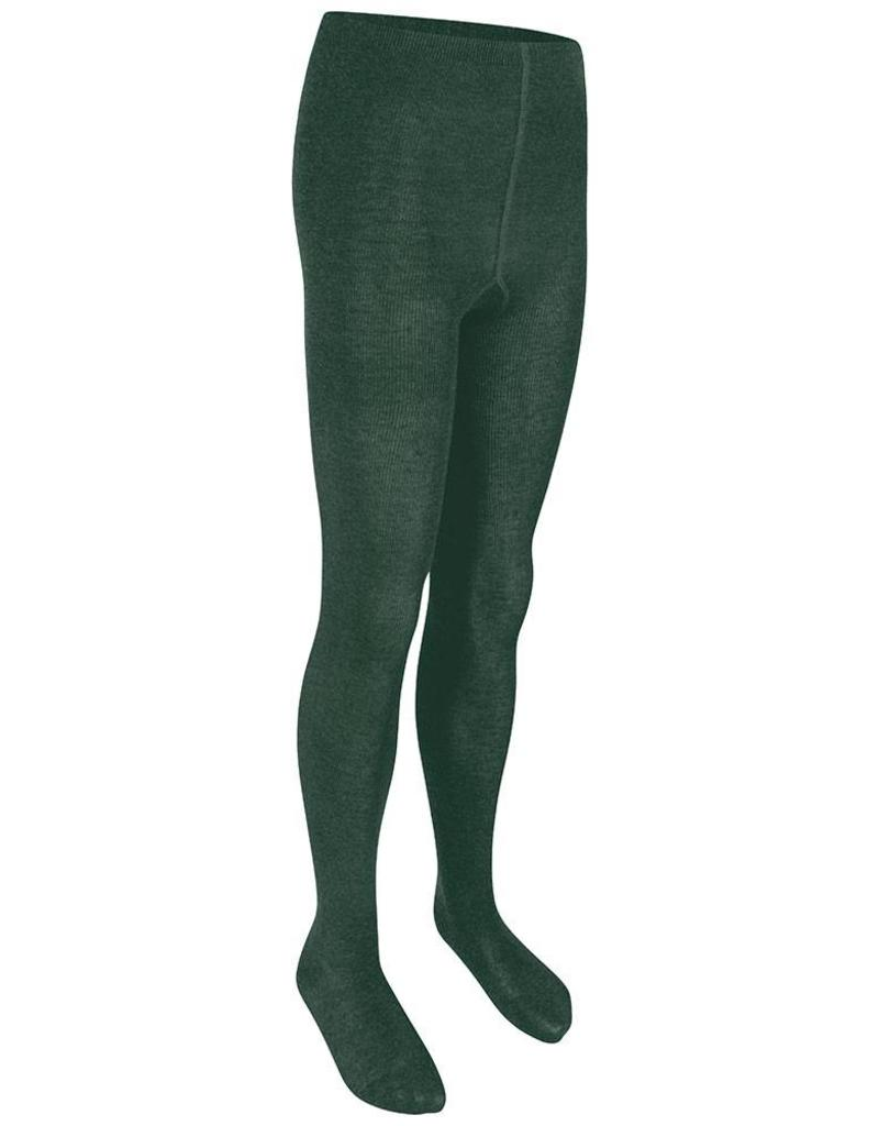 Girls Bottle Green Cotton Soft Tights