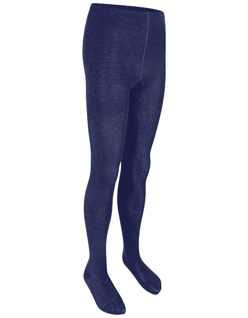 Girls Navy Cotton Soft Tights