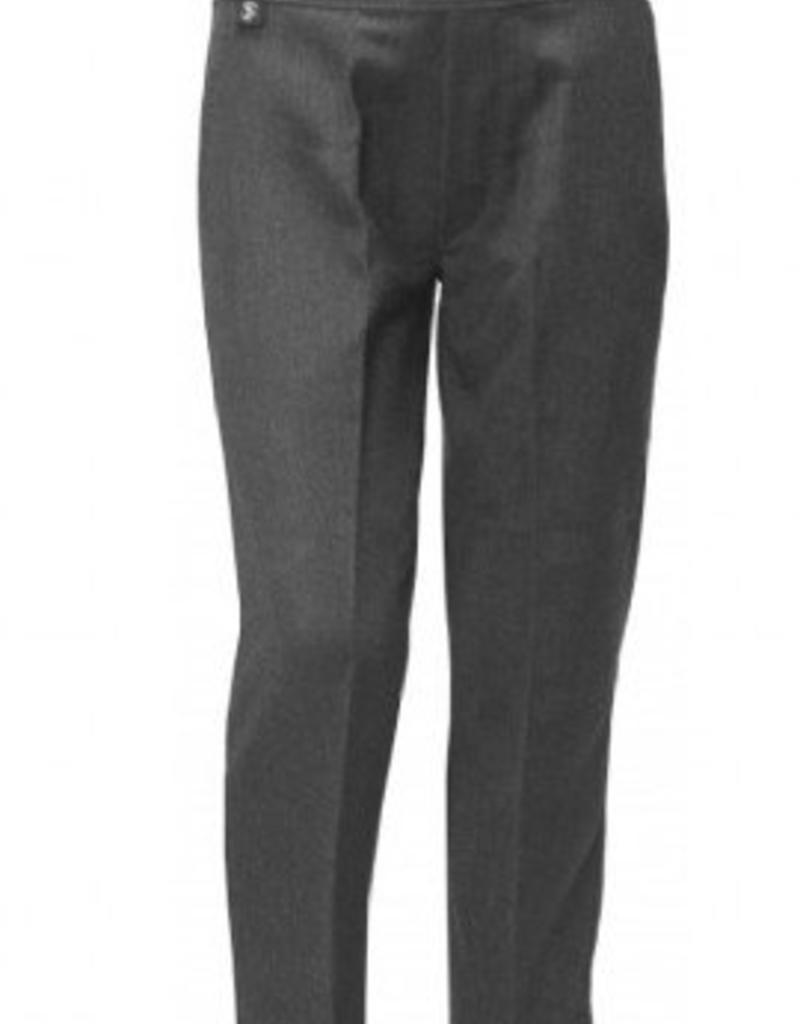 Boys Trousers Pull Up Slim Fit Grey