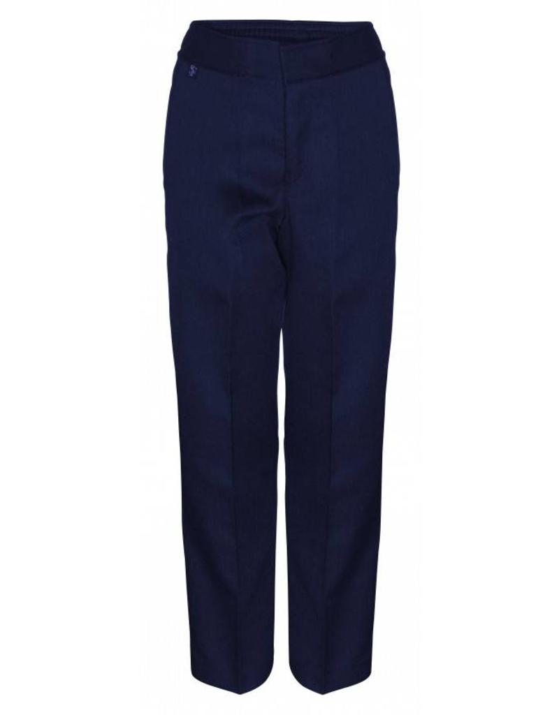 Boys Trousers Pull Up Slim Fit Navy