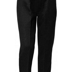 Boys Trousers Pull Up Slim Fit Black