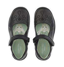 Start Rite Start Rite Princess Elza Black Leather Shoe