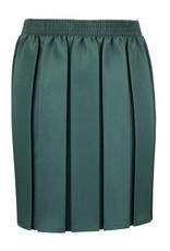Box Pleat Skirt Bottle Green