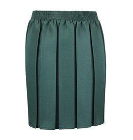 Box Pleat Skirt Bottle Green