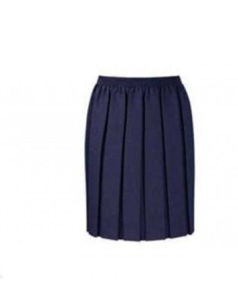 Box Pleat Skirt Navy
