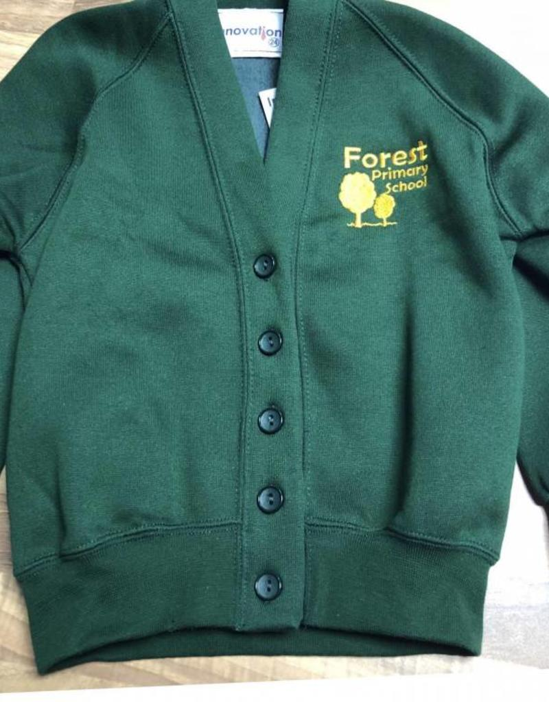 Forest Primary Sweatshirt Cardigan