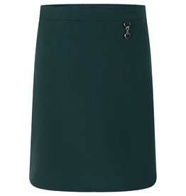 Green Lycra Skirt With Heart Detail