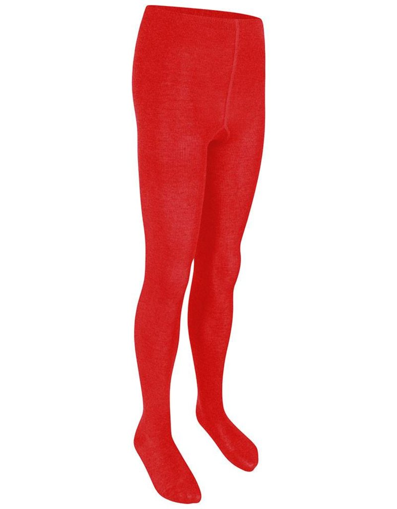 Girls Red Cotton Soft Tights