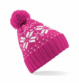 Pompom Fair Isle Beanie (Various Colours)