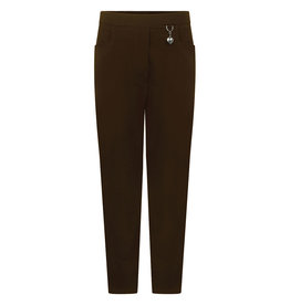 Brown Heart Detail Trousers