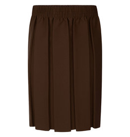Box Pleat Skirt Brown
