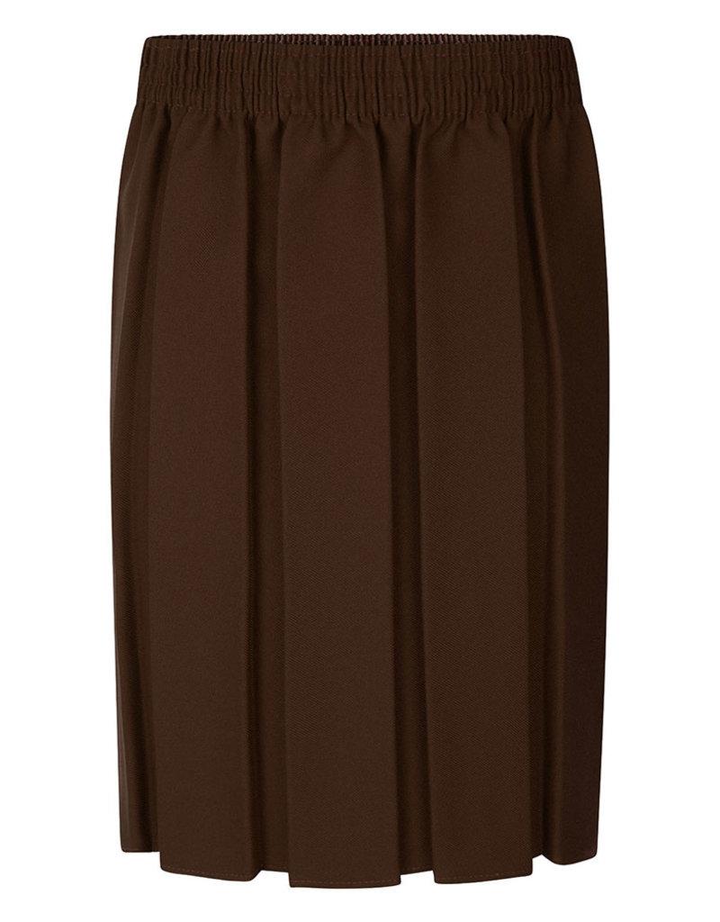 Box Pleat Skirt Brown