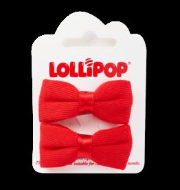 Lollipop Bow Clips Various Colours