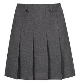 winterbottom Grey Flower Button Skirt