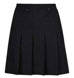 Black Flower Button Skirt
