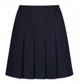 Navy Flower Button Skirt
