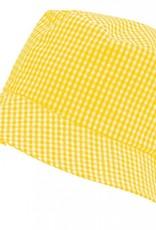 Gingham Sun Hat Yellow