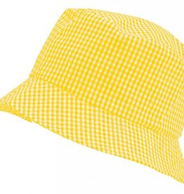 Gingham Sun Hat Yellow