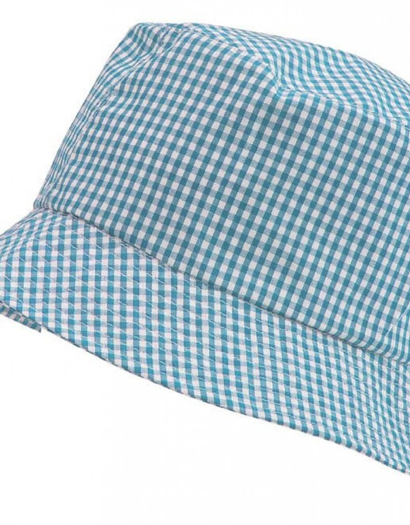 Gingham Sun Hat Blue