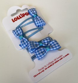 Lollipop Gingham Bobble & Clip Various Colours