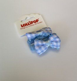 Lollipop Gingham Bow Bobble Various Colours
