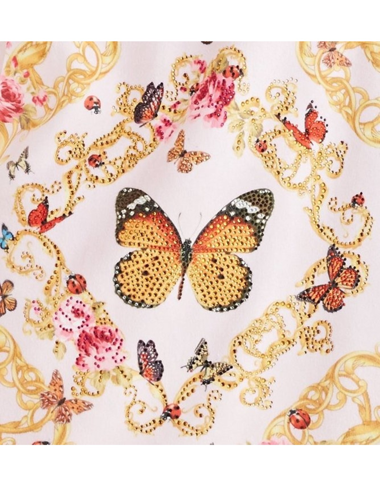 - 50% Bademantel - Pink Butterfly