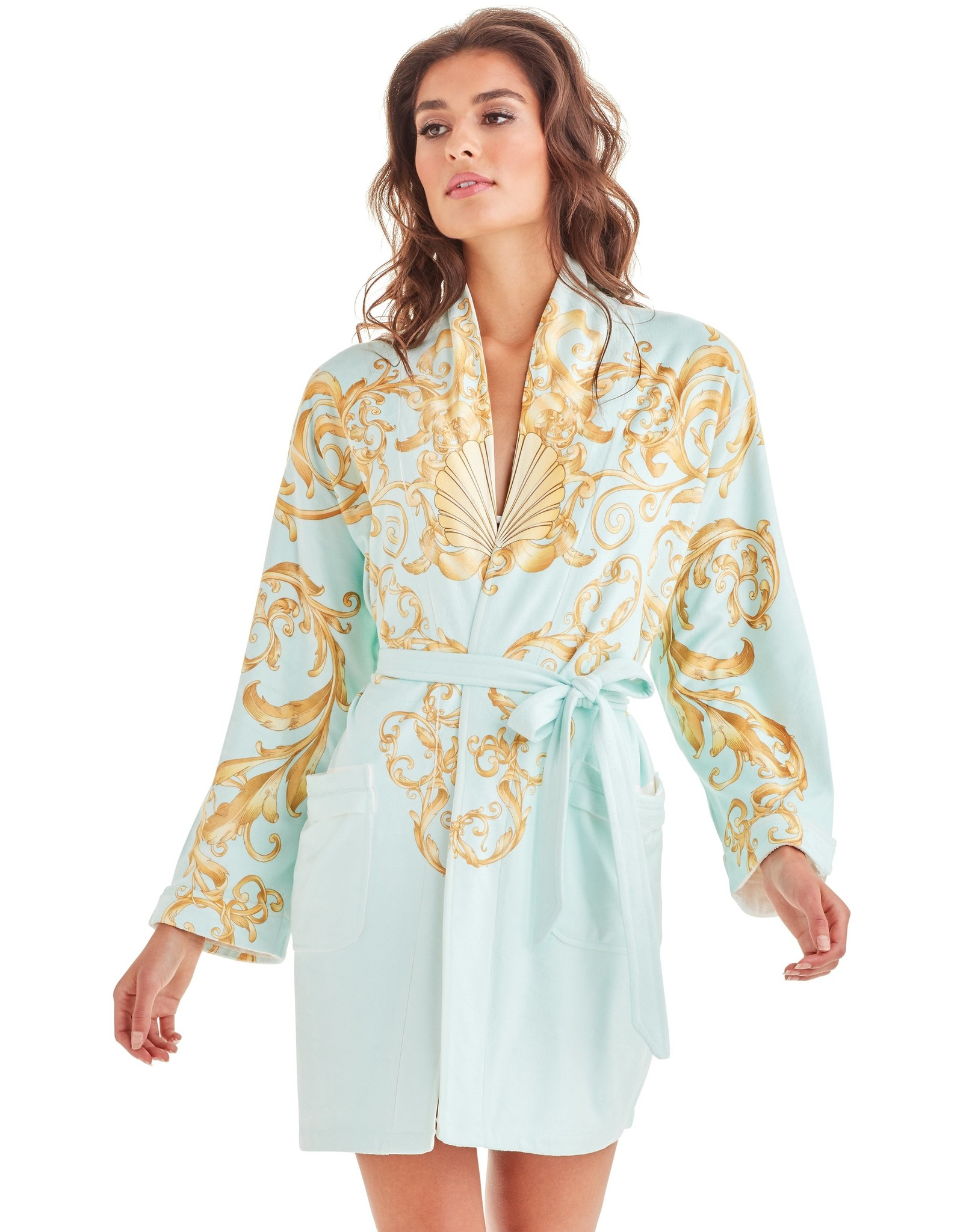 - 70% Robe de bain - Baroque Seafoam