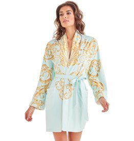 - 50% Bathrobe - Baroque Seafoam