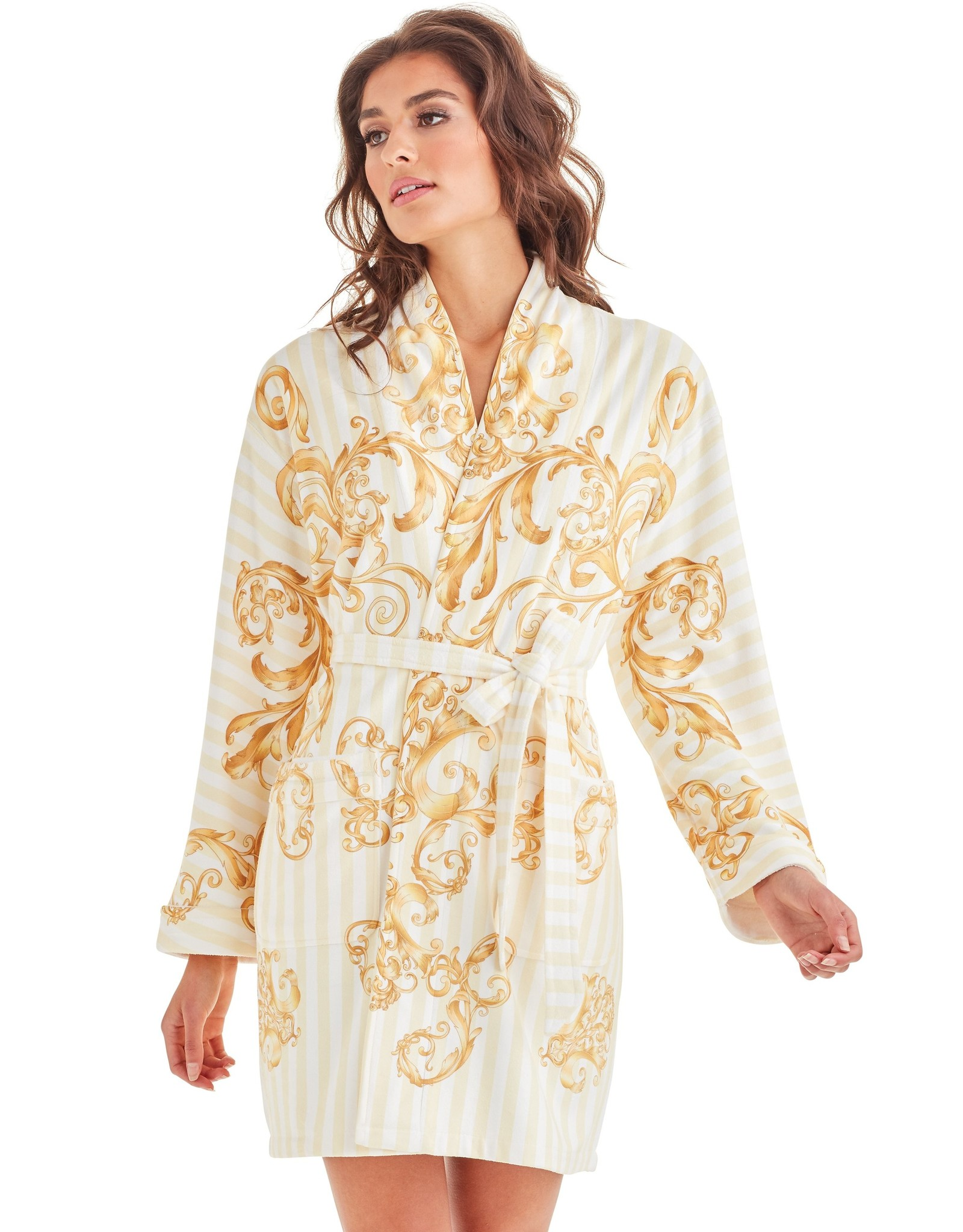 - 50% Bathrobe - Baroque Stripes
