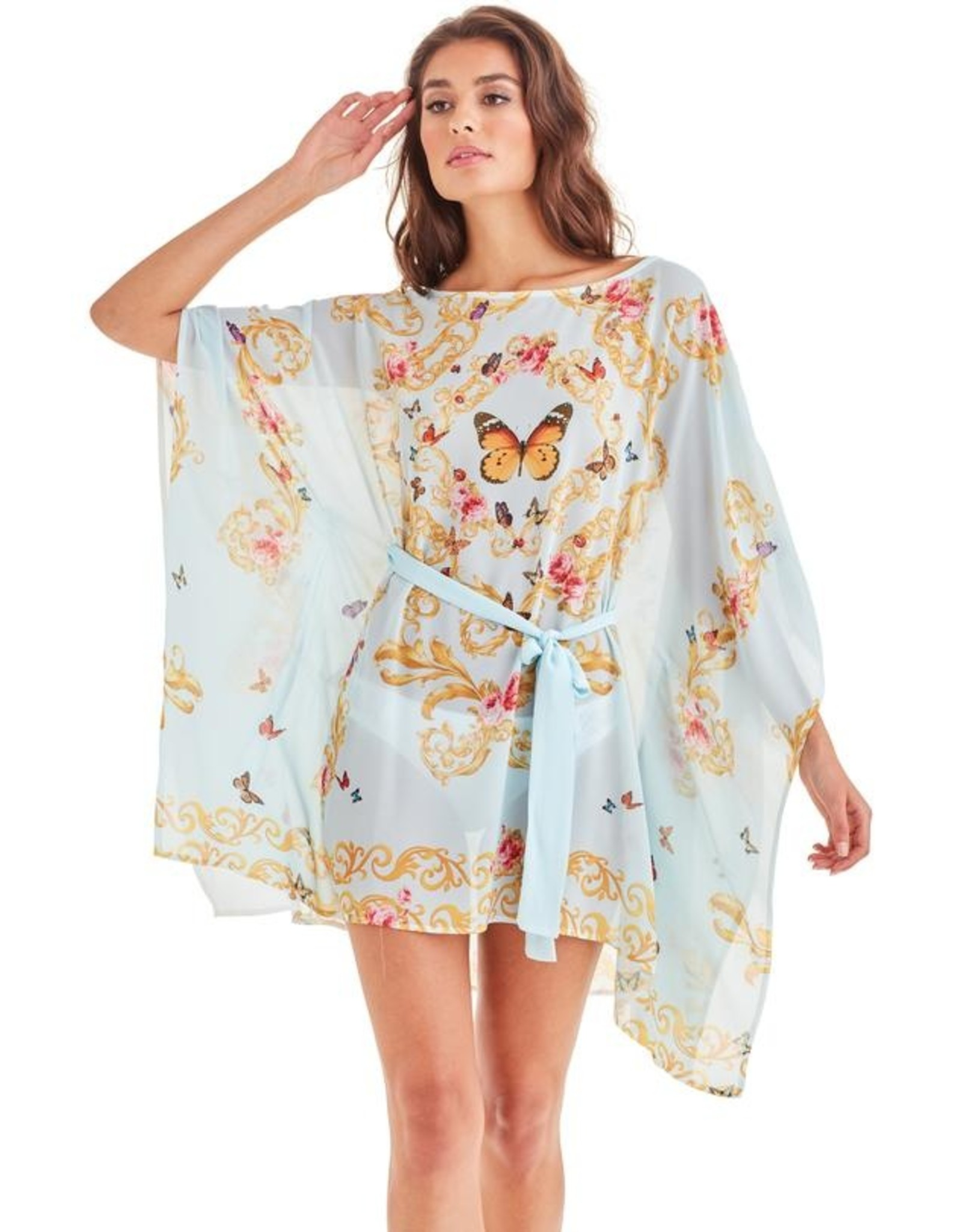 -70% Tunique - Blue Butterfly