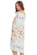 -50% Beach Towel - Blue Butterfly