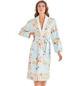 -50% Long Bathrobe - Blue Butterfly