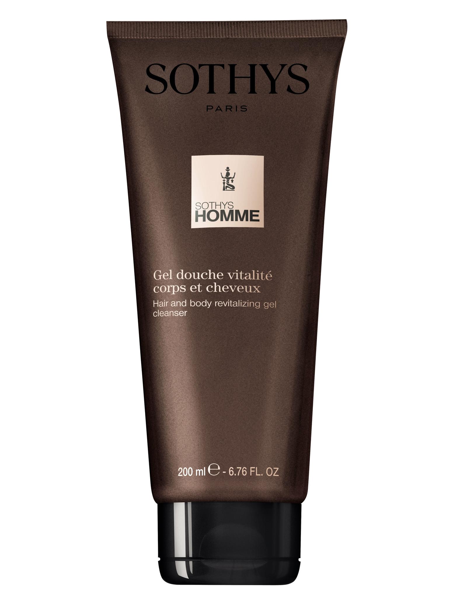 SOTHYS Gel douche vitalité corps et cheveux - Sothys Homme