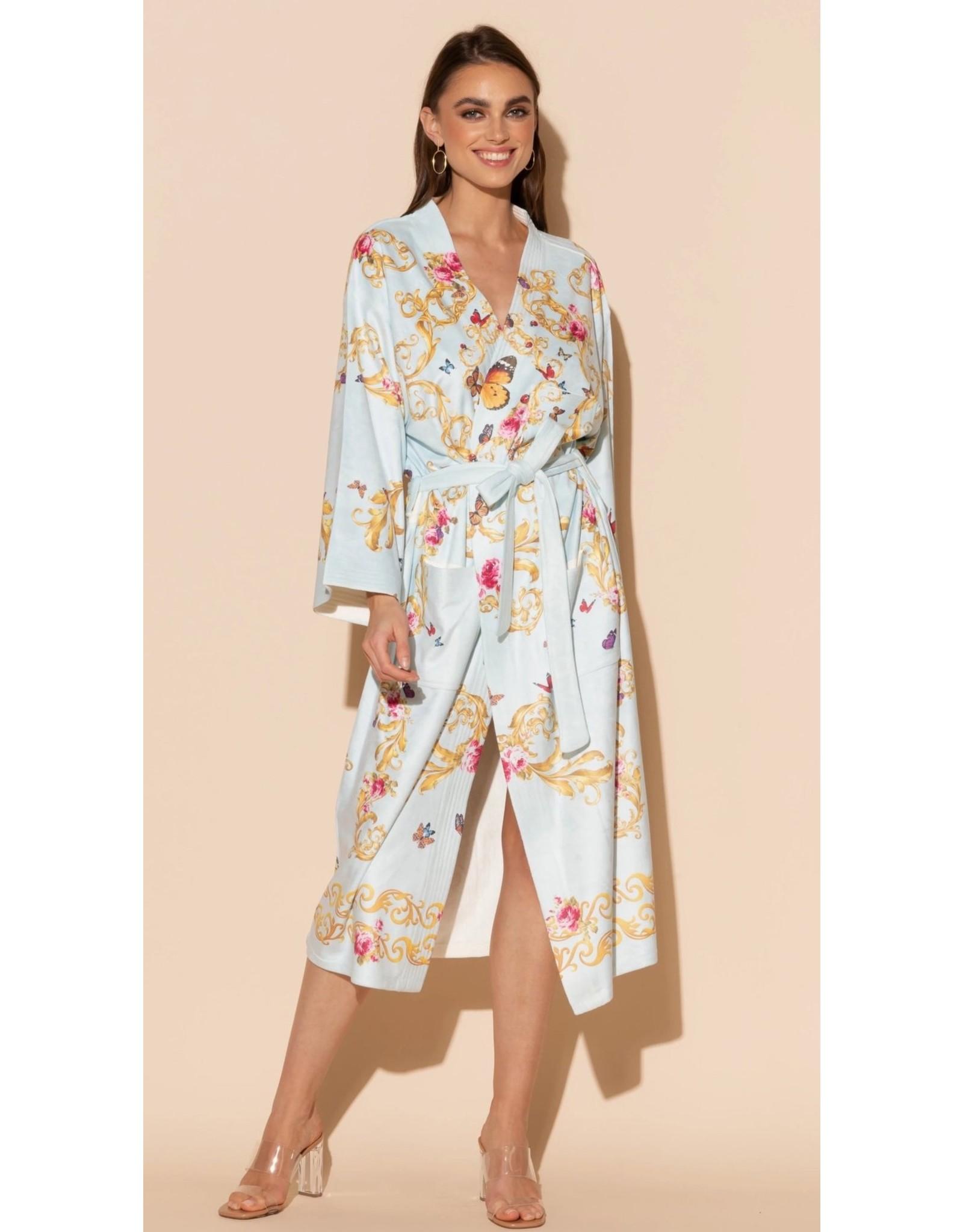 -70% Kimono - Blue Butterfly