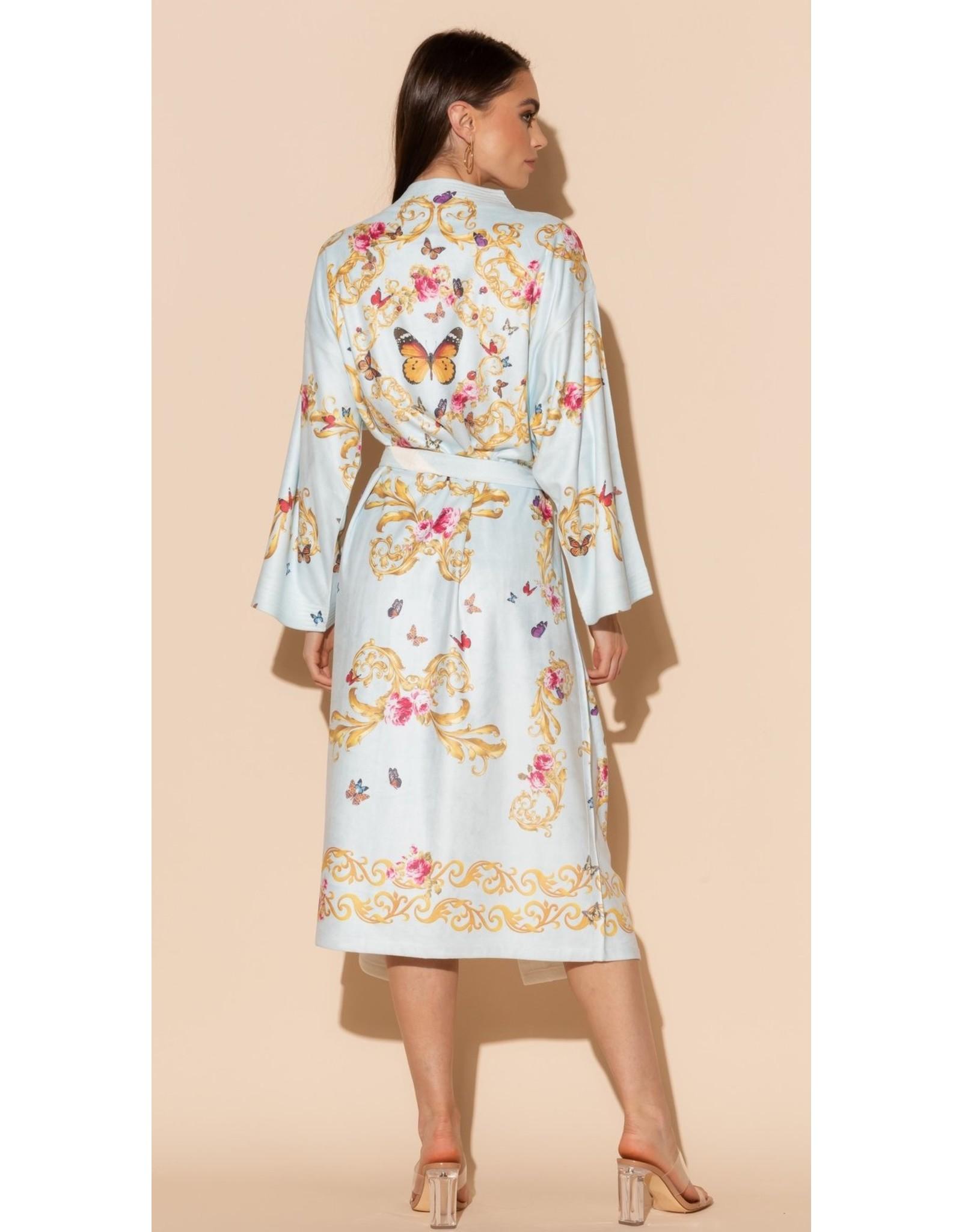 -50% Kimono - Blue Butterfly