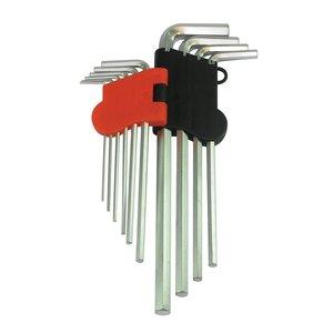 Silverline 10-Delige Metrische Zeskantsleutel Set, Expert (1,5 - 10 mm)