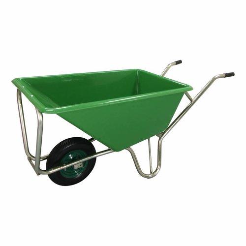 B-Deal Kruiwagen Stal Eco Groen 160 liter Met Enkele Antilek Wiel