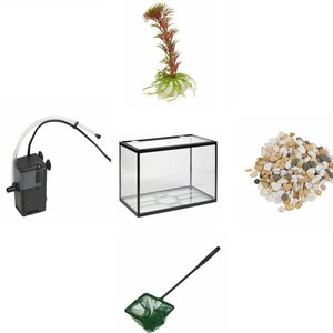 Fish Compleet aquarium set 18 liter (5 delig)