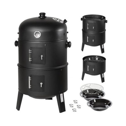 Lifetime BBQ Charcoal Smoker Barbecue - Ø37 cm