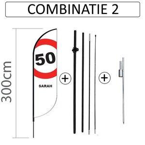 Proflag Beachflag Convex S - 60x240cm - SARAH - combi 2