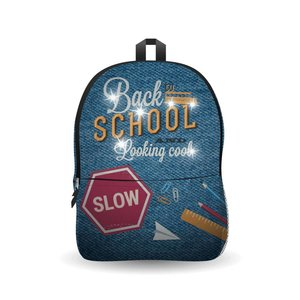 Ekuizai LED Schooltas / Rugzak - Back to school -Jeans model