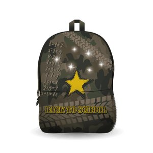 Ekuizai LED Schooltas / Rugzak - Back to school - army model