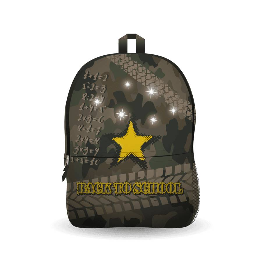 Afbeelding van Ekuizai LED Schooltas / Rugzak Back to school army model