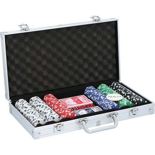 Lifetime Deluxe Pokerset In Aluminium Koffer Met 300 Chips & Poker Kaarten Playing Cards