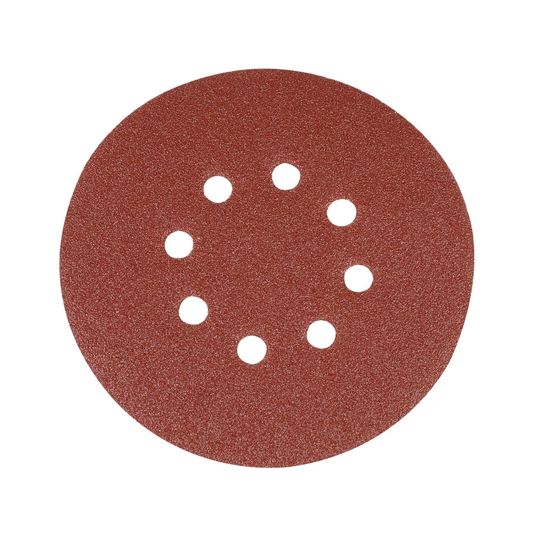 Geperforeerde Klittenband Schuurschijven, 150 mm. - 80 Korrel